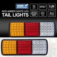 2x LED Tail Lights 12V Brake Reverse 75LED Trailer Truck UTE Caravan ADR Approve