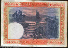"""100 pesetas 1925 Felipe II """" La silla de Felipe II """" El Escorial @ Bonito @"""