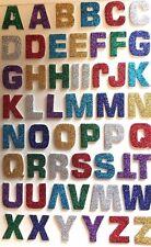 52 ! Glitterati Foam Alphabet / Letter  Stickers  Multi 3 D Effect 23 x 23 mm