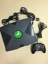 Original Xbox console with one controller