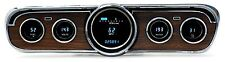 1965-66 Ford Mustang Dakota Digital VFD3 w/ Woodgrain Bezel Digital Gauge Kit