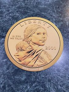 Vintage 2000 Sacagawea Golden Dollar Coin MOUSE PAD US MINT - Never Used