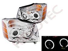 G3 Super Bright Halo Projector Headlights For 04-07 Nissan Titan Armada Chrome