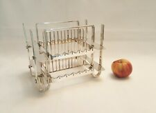 More details for unusual mid century silver plated freestanding 24 place cutlery rack or stand.