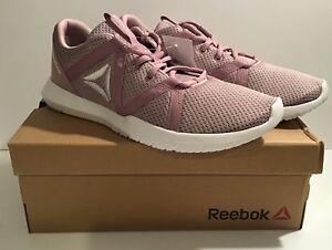 Reebok Reago Essential Athletic Shoes Lavendar/Lilac/White Sz 10 Medium-New