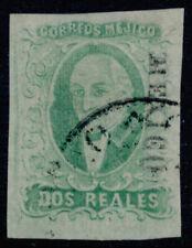 zv16 Mexico #3b 2R Plate 1 Emerald Mexico VF w/Unusually Nice margins Est $40-60