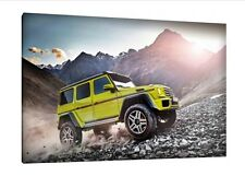 Mercedes G Wagon - 30x20 Inch Canvas - Framed Picture Print Art