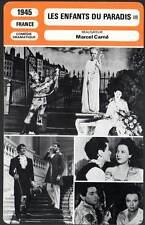LES ENFANTS DU PARADIS (I+II) Carné (2x Fiche Cinéma) 1945 Children Of Paradise
