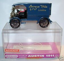 MINIALUXE VOITURE LIVRAISON AUSTIN 1911 LAWRENCE WHITE LONDON REF 28 1/43 BOX 1