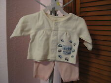 McBaby Top and Lullaby Club Pants 2 pc Set Size Newborn or Reborn Baby NWT