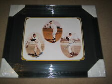 MICKEY MANTLE, MAYS & SNIDER TRIPLE SIGNED AUTOGRAPHED 11 X14 FRAMED PHOTOGRAPH!
