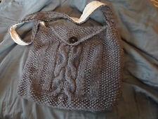 "New Hand Made Unique Shoulder Bag Size 13"" x 15"" Knitted Bag Fully Lined Beaded"