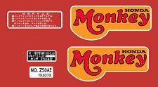 HONDA Z50A DOMESTIC MONKEY  / FRAME DECAL SET REPRO