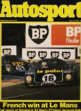 Autosport 19 Jun 1980 - Le Mans 24 Hours Rondeau, Donington Park, Scottish Rally