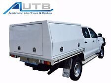 Dual Cab Hilux Aluminium Canopy - 1800mm  x 1800mm x 860mm 3 Door Powdercoated