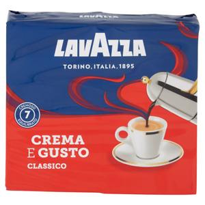 CAFFE LAVAZZA CREMA E GUSTO CAFFé MACINATO CAFFè ESPRESSO CLASSICO MOKA 250gr x2