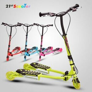 2020 Best Scooters.New Trend Flicker 3 Wheel Kids Frog Swing Wiggle Kick Scooter