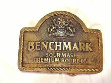 BENCHMARK Kentucky Sour Mash Premium Bourbon BELT BUCKLE ~ Vintage 1980s