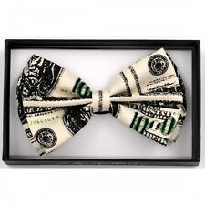 UNISEX ADJUSTABLE WEDDING TUXEDO BOW TIE ~ BENJAMIN MONEY HUNDRED DOLLAR BILL $