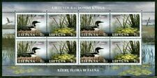 Lithuania 2005 Red Book Species Loon, Plant on Sheetlet of Eight Stamps MNH