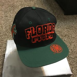 Vintage 90s NCAA College Florida A&M University Rattlers Snap Back Hat