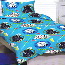 Star Wars - circles - Disney - Single/US Twin Bed Quilt Doona Duvet Cover set