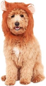 Lion's Mane Headpiece for Dogs - S/M - Attached Ears - Rubie's - NWT