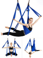 Aerial Yoga Hammock Anti-Gravity Sling Swing Trapeze Invertion Fitness Full Set
