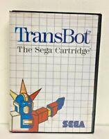 TransBot The Sega Cartridge (Sega Master System 1989) MK-4504-50