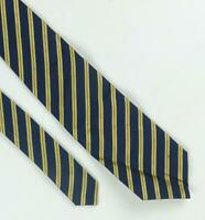 Charles Tyrwhitt Mens Blue Striped 100% Silk Classic Wide Fit Tie