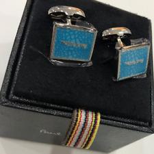 Paul Smith Azul costuras Logo Gemelos