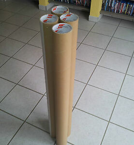 7 stabile Papprollen ca. 100cm lang Röhre Pappe Bastelrolle Rolle Rohr Pappröhre