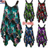 Plus Size Womens Floral Sleeveless Tank Tops Shirts Summer Holiday Camisole Vest