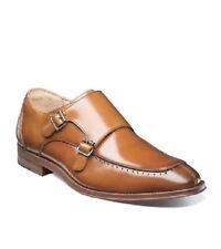 Stacy Adams Baldwin Mens Shoes Moc Toe  Double Monk Strap Tan Leather 13M