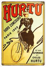 Nostalgic Hurtu Paris 1900 Bicycle Sign