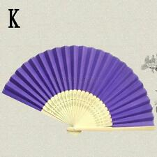 Outdoor Dance Bridal Wedding Party Potable Handheld Bamboo Folding Purple