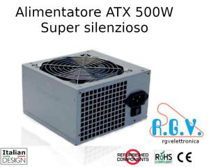Alimentatore ATX 500W interno 230V switching per computer free Silent 500 12 fan