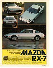 1978 MAZDA RX-7 ~ ORIGINAL 5-PAGE ARTICLE / AD