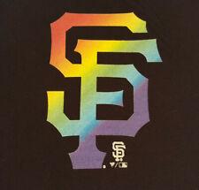 San Francisco Giants Rainbow Logo T Shirt XL X-Large EUC SF Pride INV1764