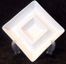 WHITE SERVING PLATTER Dish Micro Safe Small Ceramic Square Kitchen Appetizers