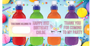 Personalised Fruit Shoot Juice Bottle Stickers Labels Drink Party Favours