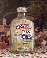 royal navy   rum miniature milne australia adelaide rare bottle