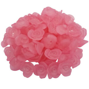 20Pcs 15mm Candy Color Transparent Beads Rose Flower DIY Jewelry Making Pendant