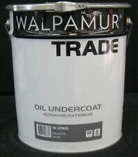 WALPAMUR 10 litre TRADE UNDERCOAT INTERIOR/EXTERIOR OIL/BASE WHITE colour paint