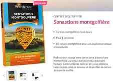 Coffret  E-Billet Wonderbox ''Sensations montgolfière'' 163€ au lieu 185€