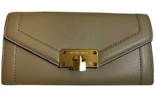 MICHAEL KORS khaki Taupe Leather Wallet New