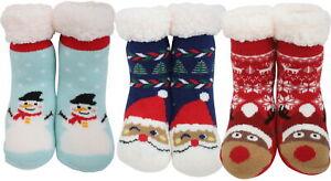 Atino Kids Festive Christmas Knitted Slipper Socks 10-2