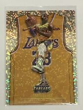 LeBron James 2018-19 Panini Threads Lakers Parallel Card #175 Dazzle icons!