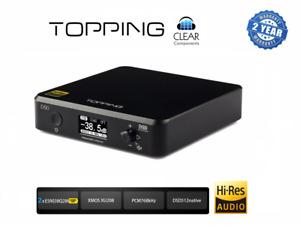 TOPPING D50 S DSD DAC - DIGIT ANALOG CONV USB DA WANDLER HIGHEND - BLACK