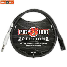 """Pig Hog 3-ft XLR Male to 1/4"""" TRS Male Patch Cable Stereo Balanced Adapter NEW"""
